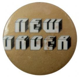 New Order - 'Name Gold' Button Badge
